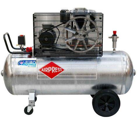 Airpress® ölgeschmierter Druckluft-Kompressor 5,5 PS 4 kW 11 bar verzinkter 270 Liter Kessel, 400 Volt großer Kolben-Kompressor GK 700-300
