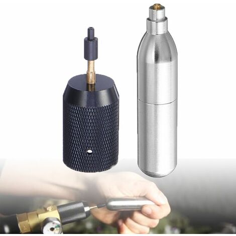 Airsoft Rechargeable 12g Cordless Refill CO2 Cartridge Gas Cartridge / Adapter WASHED