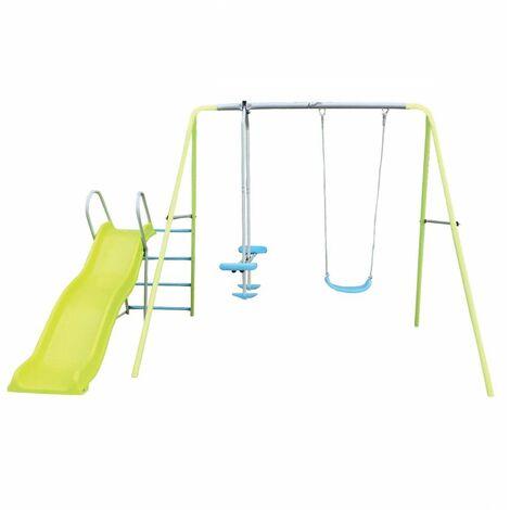 Airwave Alto Outdoor Swing, Glider & Slide Children's Play Equipment - Green