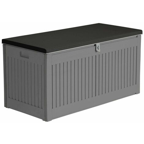 Airwave Outdoor Plastic Garden Storage Box 270L - Grey