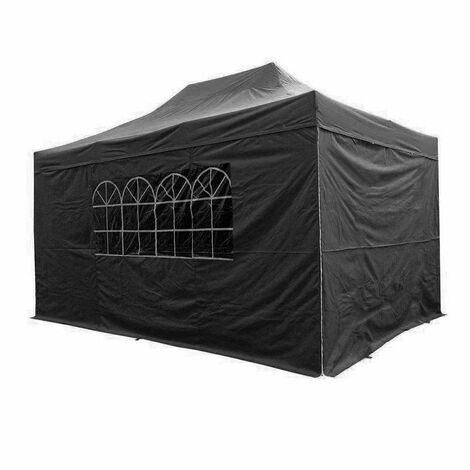 Airwave Pop Up Gazebo Fully Waterproof 4.5x3m in Black