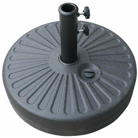 Airwave Standing Plastic Round Parasol Base - Black