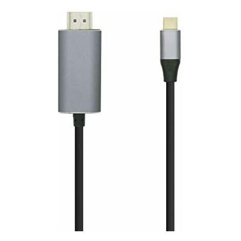 Aisens - cable conversor usb-c a hdmi negro, 0.8m