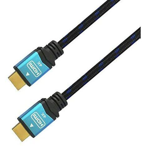 Aisens - cable hdmi v2.0 premium alta velocidad / hec 4k@60hz 18gbps, a/m-a/m, negro/azul, 10m
