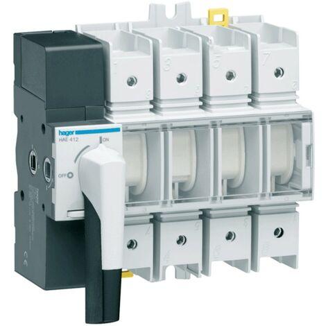 Aislador de Hager 4P 125A 8 módulos con rotary switch HAE412