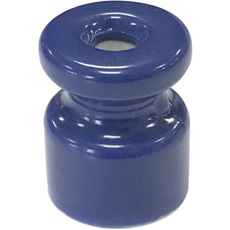 Aislador de porcelana azul para cable trenzado (F-Bright 1400424-AZ)
