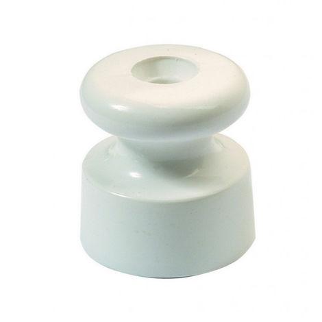 "main image of ""Aislador de porcelana blanco para cable trenzado ø20mm. (Fontini Garby 30 913 17 0)"""