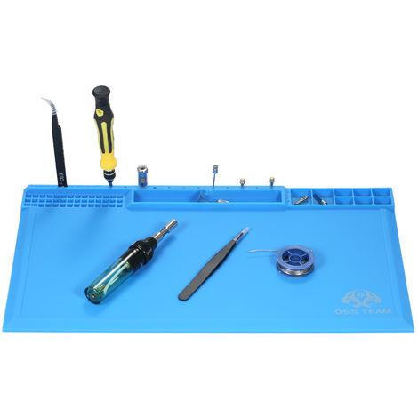 Aislamiento termico magnetico de silicona del cojin, para BGA Soldadura, 380 * 210 mm, azul oscuro