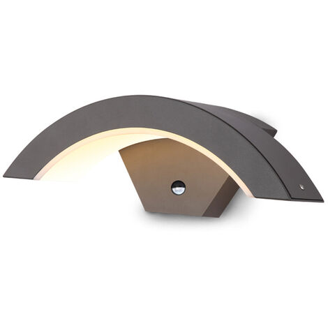 Aisle 15W LED Lamp Warm White Light Arc European Outdoor Waterproof with Automatic Sensor 220V Mohoo