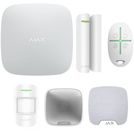 Ajax alarme StarterKit + alarmes interieur et exterieur noir - Noir