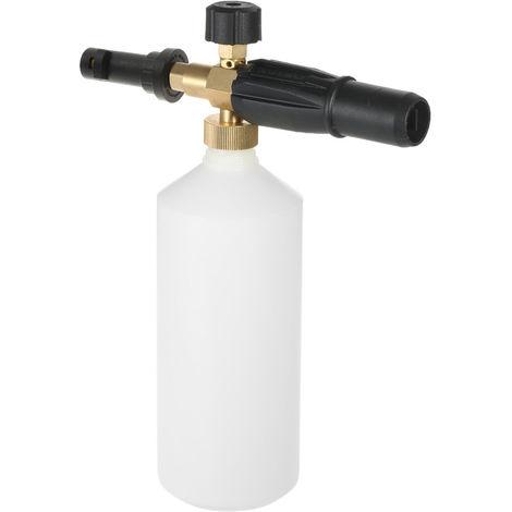 Ajustable Car Wash poder de riego, con 1L de pulverizacion de cono botella de boca, sin Lanza