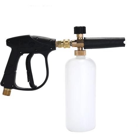Ajustable Car Wash regadera, 1L con pulverizacion de cono botella de boca, con la lanza