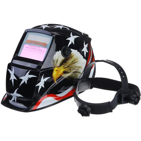 Ajuste de oscurecimiento automático solar / Ajuste continuo Casco de soldadura Arco Tig Máscara Mig Soldador de molienda Máscara de soldadura / Gafas