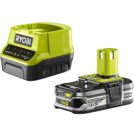 Akku RYOBI 18V 1.5Ah OnePlus LithiumPlus und Schnellladegerät 2.0Ah RC18120-115