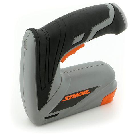 Sthor® Akku Tacker 3,6 Volt inkl. Heft-Klammern Tacker-Pistole Elektro Hand-Tacker Typ 78157