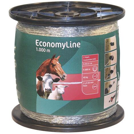 AKO Câble pour clôture électrique mono-fil transparent - EconomyLine - longueur 1000 m