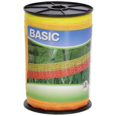 AKO Fil pour clôture électrique - Basic Classe - 40 mm x 200 m - blanc