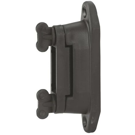 AKO Isolateur professionnel de coin/piste pour ruban adhésif de 4 cm, noir, 6 pièces