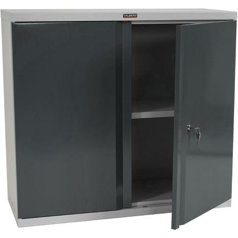 Aktenschrank Valberg HHG-618, Metallschrank Büroschrank Stahlschrank, 2 Türen 84x92x37cm