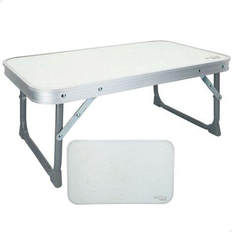 AKTIVE 52870 - Mesa plegable de aluminio para camping Camping 60x40x50 cm