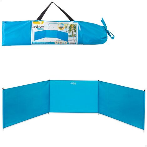 AKTIVE 53441-Paravientos playa plegable 300x75 cm de aluminio aktive beach