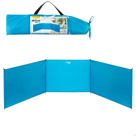 AKTIVE 53442-Paravientos playa plegable 200x75 cm de aluminio aktive beach