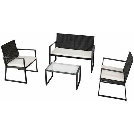 AKTIVE 61009 - Conjunto muebles ratán para jardín Garden