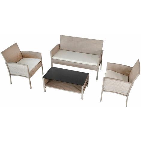 AKTIVE 61013 - Conjunto muebles jardín Garden en ratán