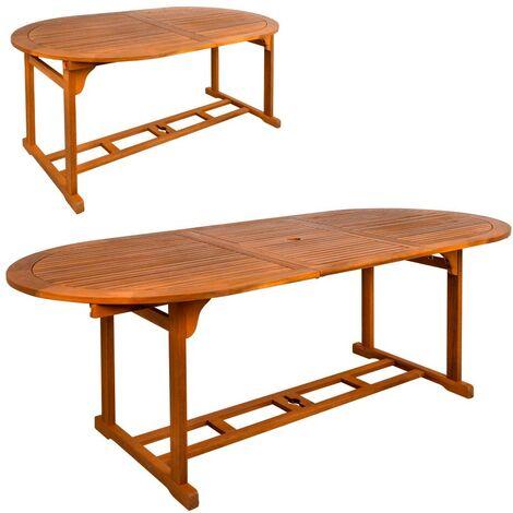 AKTIVE 61026 - Mesa ovalada extensible en madera acacia Garden