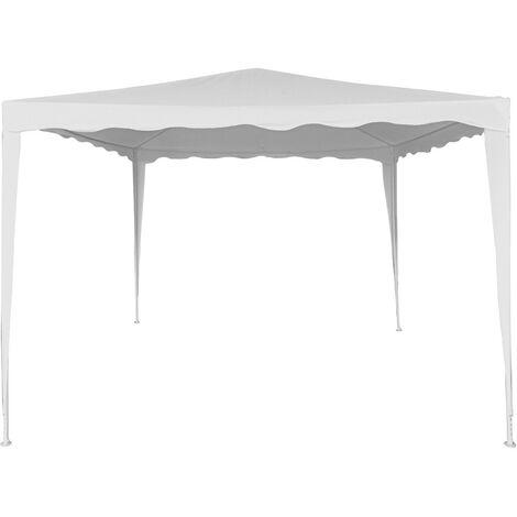 AKTIVE 62186 - Cenador blanco para jardín poliéster 300x300x250