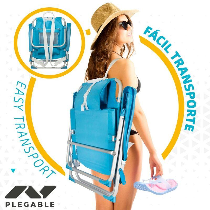 Cm 64x63x82 Aktive Aluminio Beach Posiciones53983 Silla Plegable 5 Mochila IY6ybfv7g