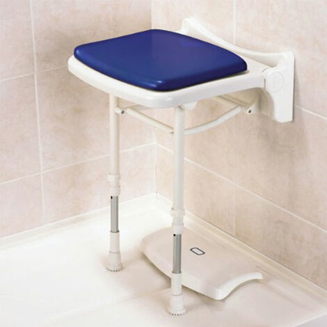 AKW 2000 Series Compact Fold Up Shower Seat Grey