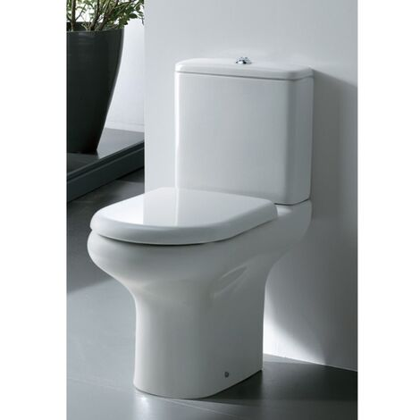 AKW Compact Standard Height Close Coupled with Push Button Cistern - Soft Close Seat