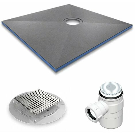 AKW DuraForm Square Wetroom Floor Former with Waste and Tiled Cover - 1000mm x 1000mm
