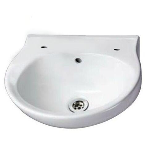 AKW Finger Rinse Cloakroom Basin, 400mm Wide, 2 Tap Hole