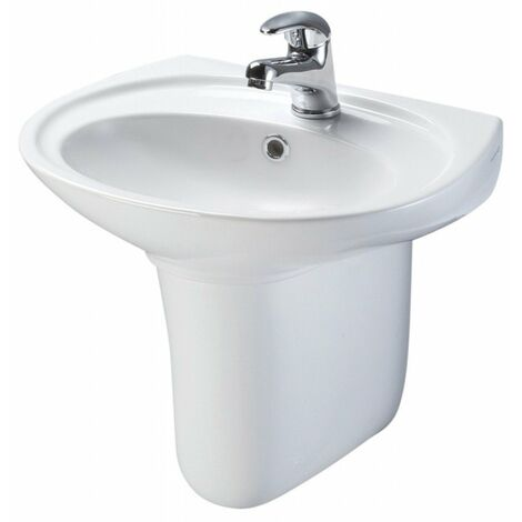 Mode Carter 1 tap Hole Basin semi Pedestal Basin 550mm