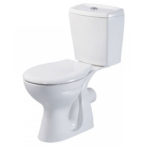 AKW Livenza Close Coupled Toilet - Push Button Cistern - Standard Seat