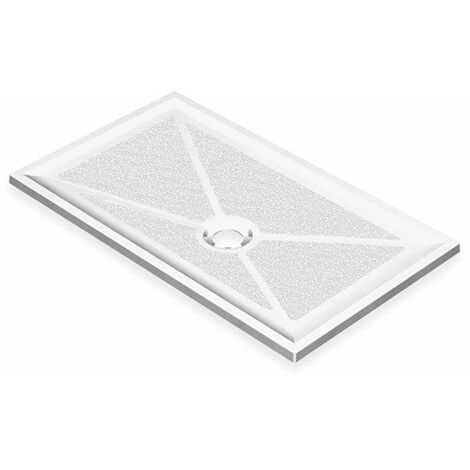 AKW Low Profile Rectangular Shower Tray, 1200mm x 700mm, Non-Handed