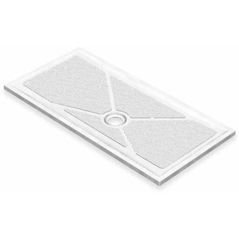AKW Low Profile Rectangular Shower Tray with Gravity Waste 1800mm x 700mm