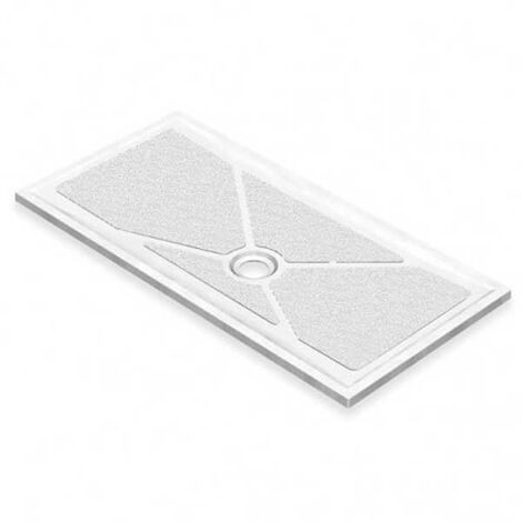 AKW Low Profile Rectangular Shower Tray with Gravity Waste 1800mm x 820mm