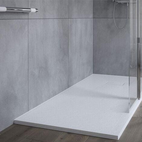AKW Onyx Rectangular Shower Tray 1400mm x 700mm - White