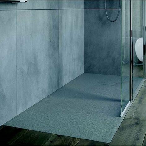 AKW Onyx Rectangular Shower Tray 1400mm x 800mm - Grey