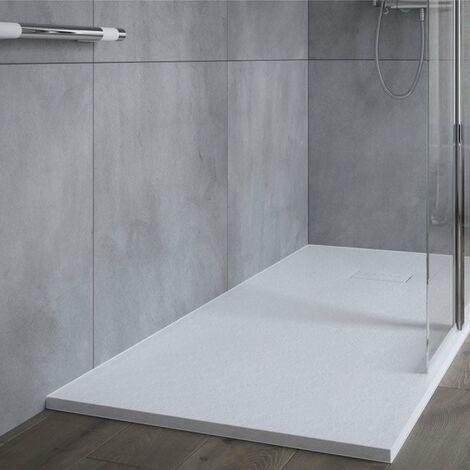 AKW Onyx Rectangular Shower Tray 1400mm x 800mm - White