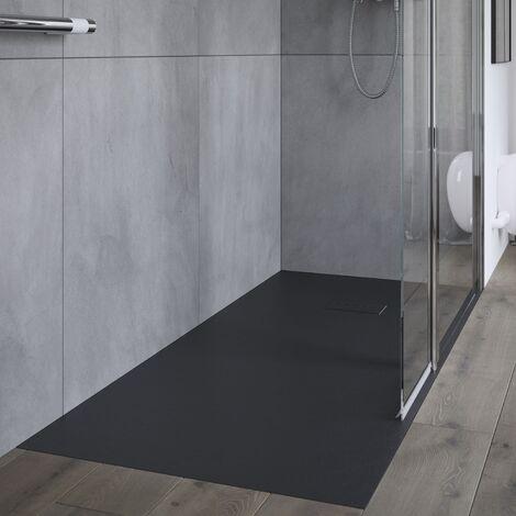 AKW Onyx Rectangular Shower Tray 1600mm x 900mm - Black