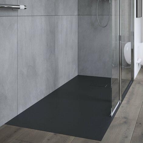AKW Onyx Rectangular Shower Tray 1700mm x 800mm - Black