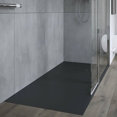 AKW Onyx Rectangular Shower Tray 1800mm x 900mm - Black