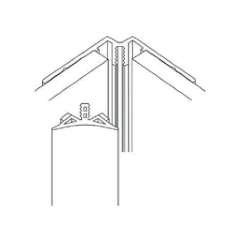 AKW - Profilé d'angle intérieur hermine assorti en PVC