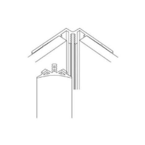 AKW - Profilé d'angle intérieur marbre assorti en PVC
