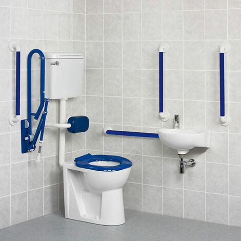AKW Standard Doc M Pack with Low Level Disabled Toilet - Blue