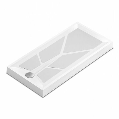 AKW Sulby 2 Rectangular Shower Tray with Gravity Waste 1200mm x 700mm